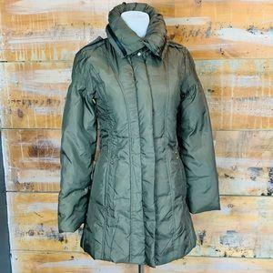 MaxMara Military Green Puffer Coat Studded 8